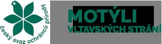 Motýli vltavských strání Logo